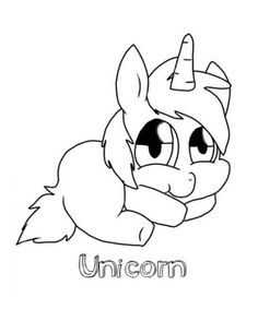 Cute Baby Unicorn Coloring Pages