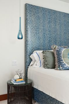 What a beautiful bed.  House of Turquoise: Lisa Kanning Interior Design
