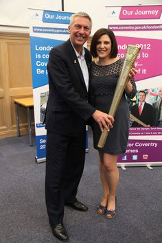 Anne Dow at the Coventry reception for the Torch Tour!