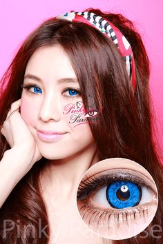 EOS Dolly Eye Blue Circle Lenses (Colored Contacts)
