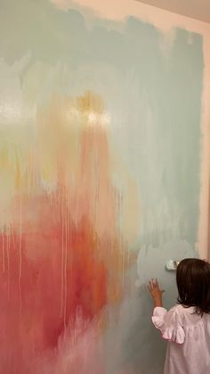Diy Wall Painting, Mural Painting, Paintings, Murals For Kids, Kids Wall Murals, Watercolor Walls, Mural Wall Art, Diy Canvas Art, Art Abstrait