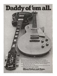 Gibson Les Paul Advertisement (1969)