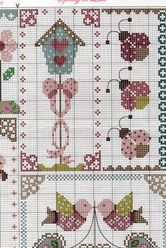 Spring in Quilt Cross Stitch Freebies, Cross Stitch Samplers, Counted Cross Stitch Patterns, Cross Stitch Designs, Cross Stitching, Cross Stitch Embroidery, Yarn Crafts, Diy And Crafts, Sewing Art