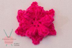 Flores de Crochet - Para apliques y Accesorios - Varios Diseños y Colores