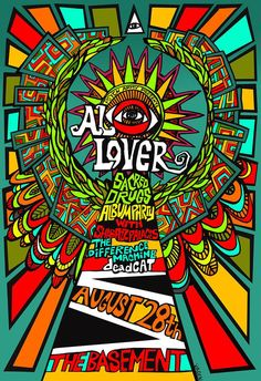 AL Lover Shabazz Palaces Difference Machine Psychedelic Gig Poster Design-Illustration art by Vikki Vaden. Gallery Print on Etsy, $25.00