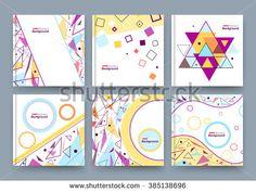Abstract composition, business card set, info text, elegant geometric shape, triangle, lozenge font texture, brochure title sheet, creative figure icon, flyer fiber, brand trademark, EPS10 banner form - stock vector