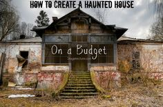 How to create a Halloween haunted house on a budget. Watch a video and see how to make your haunted house fun and scary this Halloween. #party #DIY #decor