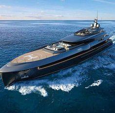 Warship? Nope - massive luxury yacht!                              …
