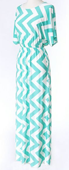 Mint chevron maxi