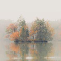 Teufelsinsel, Völkermarkter Stausee. See Picture, Mists, Leaves, Sky, Nature, Pictures, Painting, Landscapes, Photographs
