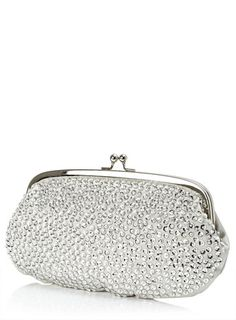 Silver Sequin Pouch Bag