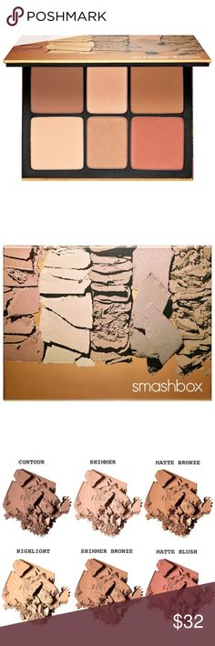 NEW Smashbox The Cali Contour Palette Brand new, just came out. new in box. Smashbox The Cali Contour palette. 2 bronzers. 1 contour. 1 highlight. 1 shimmer. 1 blush. the ultimate all in one palette.   Check out my page for more Smashbox and other brand makeup! Smashbox Makeup Bronzer