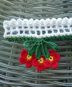 Crochet Trim, Love Crochet, Crochet Flowers, Crochet Lace, Easy Crochet, Crochet Edging Patterns, Crochet Borders, Crochet Designs, Stitch Patterns