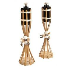 Table Top Tiki Torches are perfect for outdoor beach wedding receptions