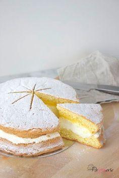 Sneeuwster, een eenvoudige taart met advocaat en slagroom - PaTESSerie