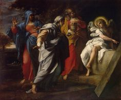 Holy Women at Christ' s Tomb Annibale Carracci, 1590 Renaissance, Caravaggio, Rembrandt, Christ Tomb, English Reformation, La Pieta, Annibale Carracci, Jan Van Eyck, Hermitage Museum