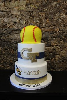 Softball cake Softball, Special Events, Cakes, Desserts, Food, Fastpitch Softball, Tailgate Desserts, Deserts, Essen