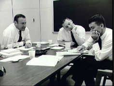 The crew of Apollo Jim Lovell, Jack Swigert and Fred Haise, during a post-flight debrief. Us Space Program, Apollo Space Program, Apollo 13, Nasa Missions, Apollo Missions, Astronauts In Space, Nasa Astronauts, Jim Lovell, Science