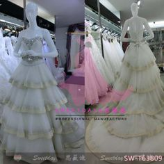 SW-T63809 Wedding Gown/ Wedding Dresses make by Sweetday wedding dress munufacture in guangzhou china sweetdaysmile@gmail.com