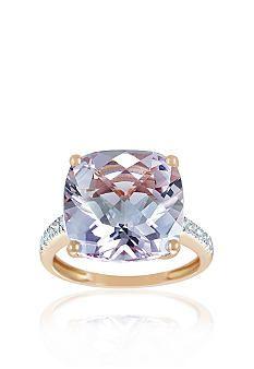 Belk & Co. 14k Rose Gold Pink Amethyst and Diamond Ring #Belkstyle #Ring #Diamonds