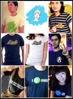 ตัวอย่างเสื้อยืดบูธ LOVEiS (D16-17) งาน T-Shirt Festival#8 @ Impact Exhibitions Hall 1&2 วันเสาร์ 28 เมษายนนี้จ้า    ปล. แสตมป์จะไปขายเสื้อที่งานด้วยจ้า