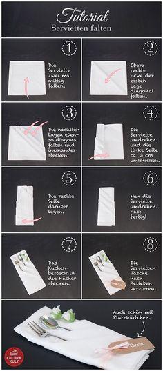 Fold napkins, it& that easy! - birthday ideas Folding napkins is so easy! Napkin folds Napkins fold The post napkins fold so easy! Wedding Napkins, Wedding Table, Diy Wedding, Rustic Wedding, Linen Napkins, Paper Napkins, Easy Napkin Folding, Wedding Napkin Folding, Clothing Hacks