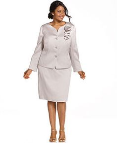 Plus Size Suits at Macy's - Plus Size Suits for Women, Plus Size Pant Suits - Macy's