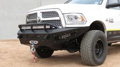 Addictive Desert Designs HoneyBadger Front Bumper With Winch Mount For Your 2010+ Dodge Ram 2500 / 3500 HD