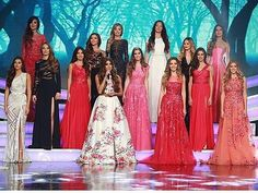 Reporting live: The 2015 Miss Lebanon contestants look radiant tonight, each and every one of them glowing in colorful gowns from our Resort 2016 collection.  Aren't they fabulous? #ZuhairMurad #MissLebanon2015 #Resort2016  Repost from @misslebofficial
