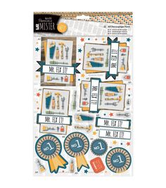 Papermania Mr. Mister A4 Decoupage Pack - No. 1
