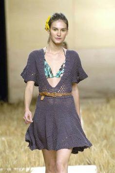 Vestido Crochê.  /  Dress Crochet.