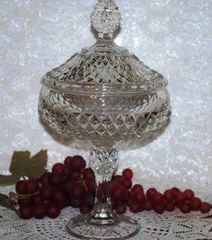 Elegant Indiana Glass Clear Glass Diamond by KarolynsKeepsakes