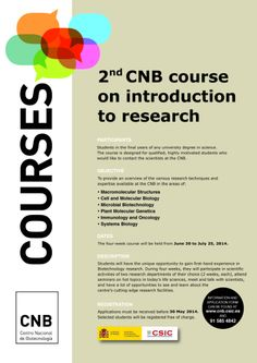 2nd CNB Course on Introduction to Research
