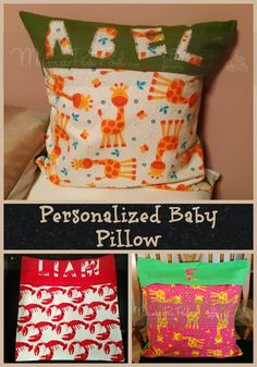 Mama Pea Pod: {Sew Easy Personalized Throw Pillows for Babies and Kids: A Tutorial for Complete Beginners}