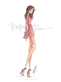 spring shower outfit ideas | romper | cocktail party | pop of color | turquoise | spring trends | fashion illustration | Brittany Fuson
