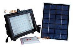 Faretto Solare da Esterno 60 LED Super-Luminosi Pannello Solare e Telecomando