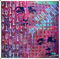 Gelli Print Andy Skinner Decoart Traditions; Love this...