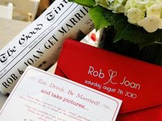 """ROB + JOAN'S WEDDING STATIONERY 