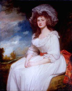 fripperiesandfobs:  Portrait of Anne Rodbard, Mrs. Blackburne George Romney 1787-88