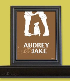 Personalized Wedding Gift Gift for Couples Dog by nelladesigns