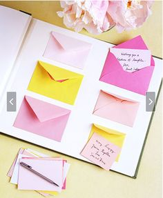 leave your notes in the little envelopes