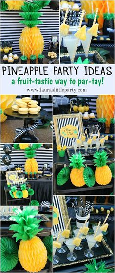 LAURA'S little PARTY - Pineapples are everywhere! Pair them with vivid colors and stripes, and you've got a recipe for a festive gathering! See more details + inspiration here ---> http://www.lauraslittleparty.com/2016/04/pineapple-party-mothers-day-celebration.html