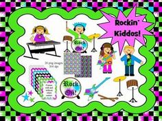 Rockin' Kiddos Graphics - Commercial use friendly! $3