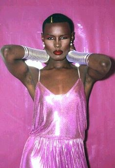 If this (heavy and cold) metallic dress could talk. One of the most popular designs of the 70's worn by the great Grace Jones (check out the video 'La Vie en Rose' showing her off the beautiful garment)