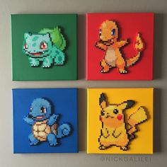 Generation 1 starters. Each are 10x10. If you're interested feel free to ask…