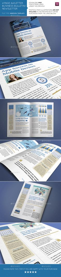 Business Newsletter Print templates, Newsletter templates and - business newsletter
