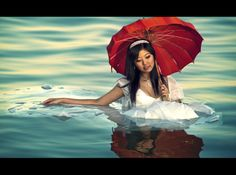 Floating Girl with Red Umbrella by shayne gray on 500px