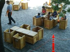 Green Roofed Shipping Container, Recycled Furniture At Lovely Pop Up Cultural Center in Buenos Aires : TreeHugger