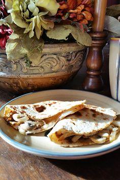 Mushroom and Onion Quesadilla