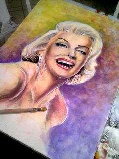 Marilyn-monroe-stage-3-painting by skytteole on DeviantArt   | This image first pinned to Marilyn Monroe Art board, here: http://pinterest.com/fairbanksgrafix/marilyn-monroe-art/ || #Art #MarilynMonroe